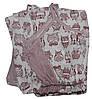 Комплект пижама для беременных и кормящих 03238 Topi Pink Owl, хлопок, р.р.42-50 - Фото