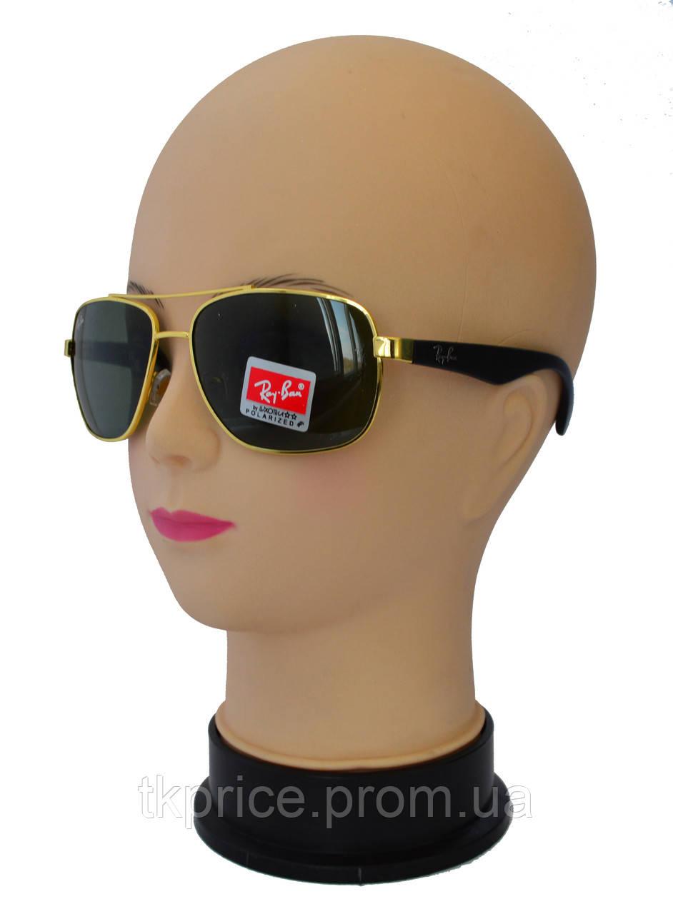 Мужские солнцезащитные очки линза-стекло качественная реплика Ray Ban -  Интернет-магазин