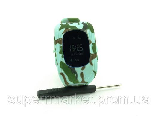 GW300 Smart Baby Watch Q50 детские смарт часы с трекером, камуфляжные, фото 2