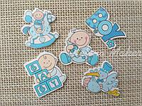 Деревянные декоративные элементы набор 5 штук Babyboy