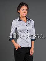 Рубашка офисная светло-серый