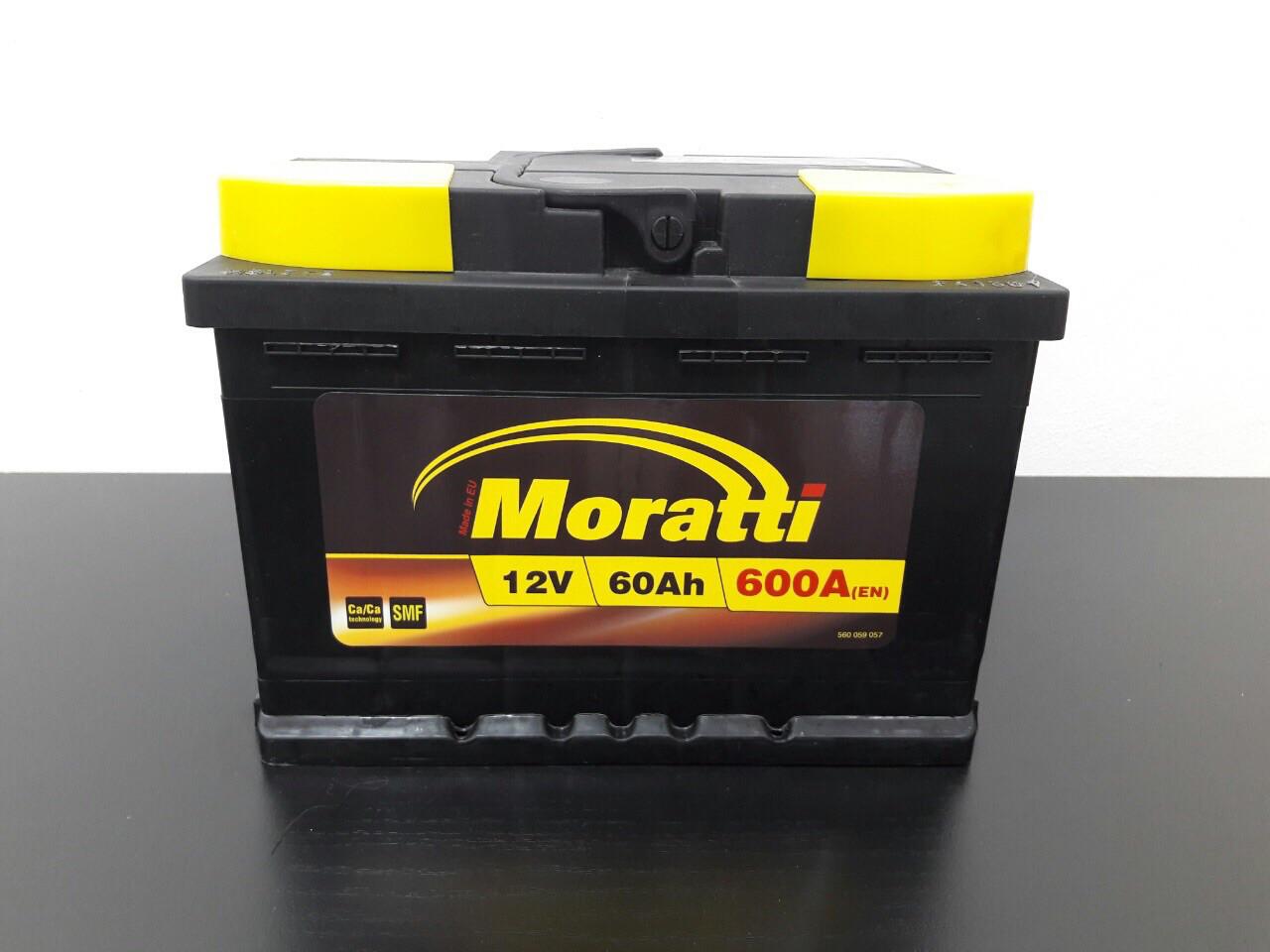 Аккумулятор Moratti 6СТ-60-АЗ (1) Евро