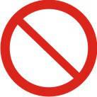 """Знак """"Заборона (інша небезпека або небезпечні дії)"""""""