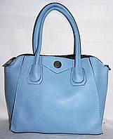 Женская голубая сумка из искусственной кожи 29*25 см
