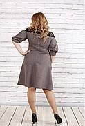 Женское платье рукав фонарик цвет мокко 0773 / размер 42-74 / батал, фото 4
