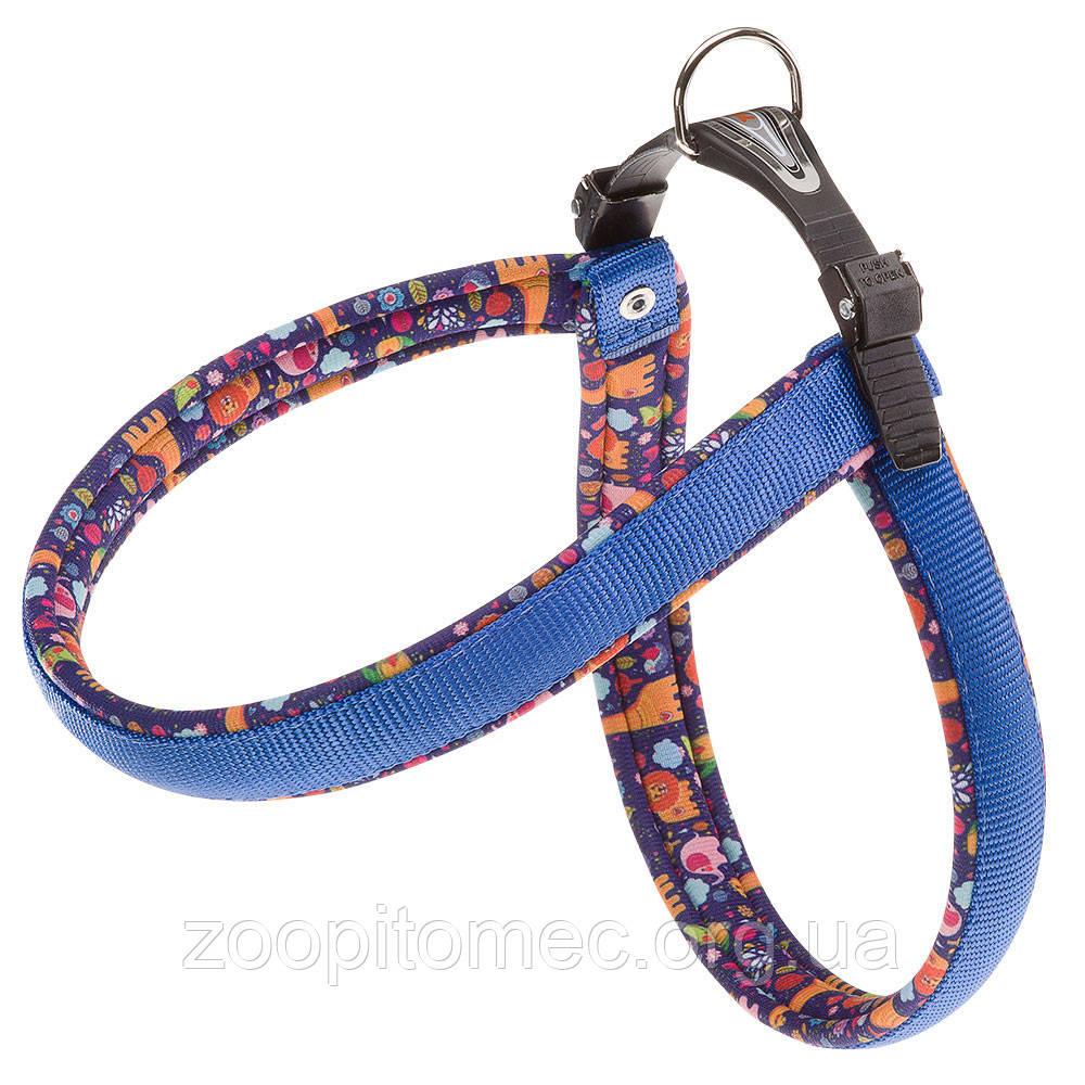 Шлея для собак Ferplast Ферпласт AGILA FANTASY 3 из нейлона с мягкой обшивкой и декором, цвет в ассортименте