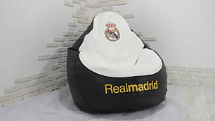 """Кресло груша """"Реал Мадрид"""" Экокожа, фото 2"""