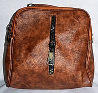 Женская коричневая сумка-клатч из искусственной кожи 23*22 см