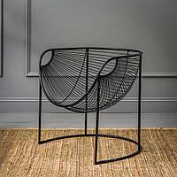 Кресло хай тек для гостиной комнаты из металла