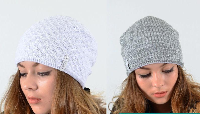 Молодежная женская весенняя шапка