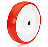 Колеса полиамид/красный полиуретан, диаметр 80 мм, без кронштейна