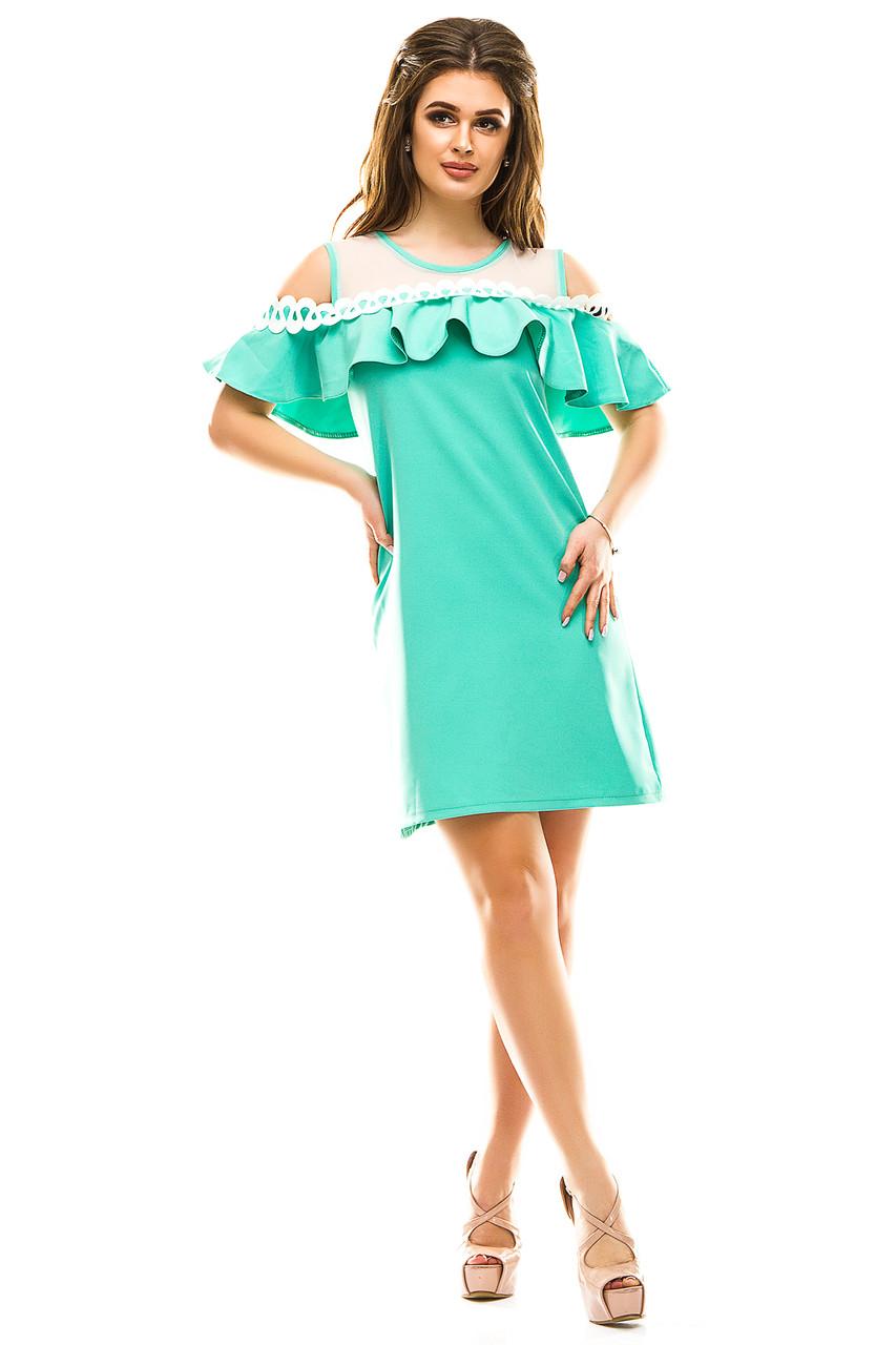 4542a8dfc02 Летний яркий женский сарафан с открытыми плечами - Интернет магазин Olledar  в Одессе