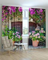 Фотошторы прекрасный сад из цветов