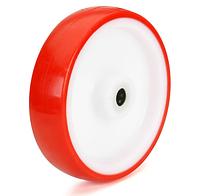 Колеса поліамід/червоний поліуретан, діаметр 100 мм, без кронштейна