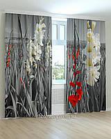 Фотошторы лилии красные и белые