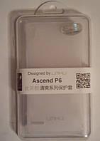 Чехол накладка Umku для Huawei Ascend P6 Белый