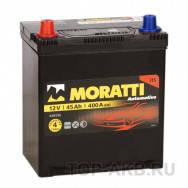 Аккумулятор Moratti 6СТ-45-АЗ (1) Asia