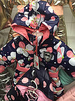 Куртка весенняя для девочки в горошек с Микки Маусом