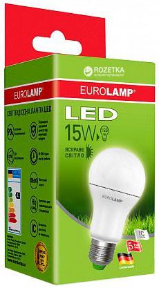 Лампа светодиодная EUROLAMP LED 15w 4000K E27 A60 15274 EDклассическая