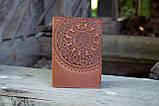 Обложка для паспорта ЭТНО коричневый 9.5*13.5см, фото 2