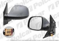 Зеркало левое электр под покрас с антеной 09- VW T5  Polcar