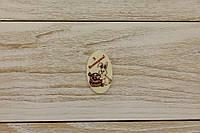 Шоколадный пасхальный декор Т-9. Размер:30х50мм,h=2мм,вес 4,43гр, фото 1