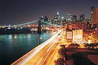 Фотообои бумажные на стену 368х254 см : Ночной Нью-Йорк (8-019P8CN), фото 1