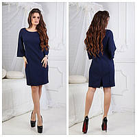 Женское платье, костюмка, р-р С; М; Л (тёмно-синий)