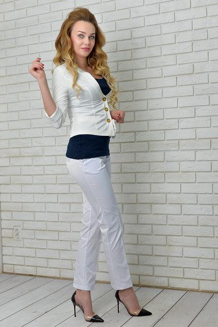 Брюки женские Эрика, модель 001, белый