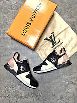 "Кроссовки Louis Vuitton ""Black/White/Pink"", фото 3"