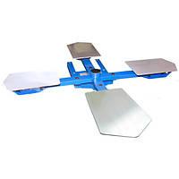 Карусельный стол на 4 рабочие плиты для печати на ткани для  полуавтоматов серии SCHULZE HAT