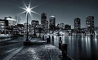 Фотообои 3D улица города (бумага, 368х254 см) Яркий фонарь (275V8CN)
