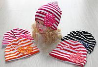 Детские  трикотажные шапки для девочек опт
