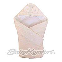 Конверт-одеяло Плюшевое с капюшоном 1х1 м