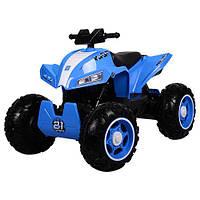Детский квадроцикл M 3607 EL-4: 12V, 180W, EVA-колеса, кожа - СИНИЙ - купить оптом, фото 1