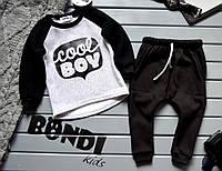 Детский костюм bondi теплый,черно-серый  (р/р 80-98)