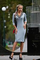 Женское миди платье трикотажное спортивного стиля