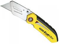 Cкладной нож 170мм с трапециевидным фиксированным лезвием 19мм Stanley