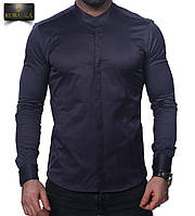 Рубашка мужская, т.синий