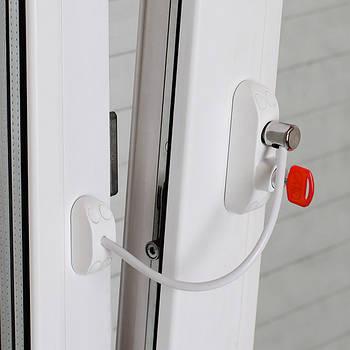 Блокиратор открывания окна от детей BSL Cable Prime Restrictor белый