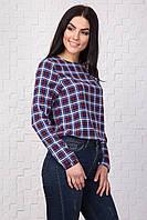 Блуза женская в клетку удлиненная размер С