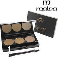 Тени для бровей Malva Cosmetics Excellence Palette Eyebrow Highlight РМ5001 №01