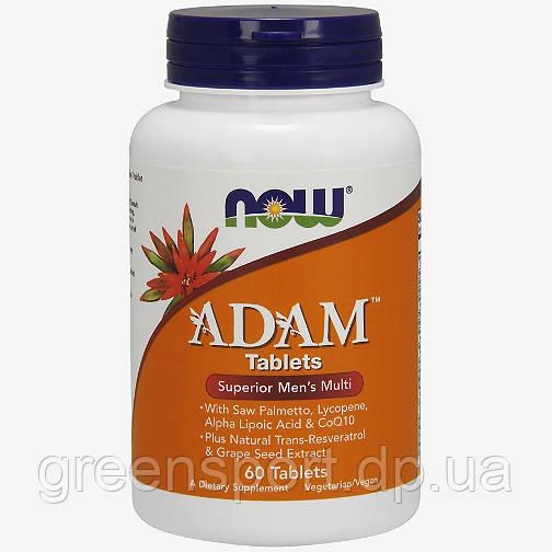 Витамины и минералы для спортсменов Now Foods Adam Tablets (60 табл.)
