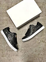 "Кроссовки, Кеды Philipp Plein Shoes ""Black/White"", фото 3"