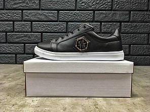 "Кроссовки, Кеды Philipp Plein Shoes ""Black/White"", фото 2"