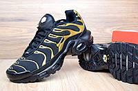 Кроссовки женские Nike TN Plus код товара OD-2502. Черные с золотом