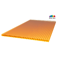 Сотовый поликарбонат Royalplast , 6мм оранжевый