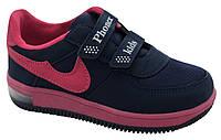 Детские текстильные кроссовки 73ROSE31 р. 31, 32, 33, 34, 35 Синий с розовым