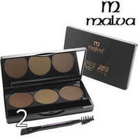 Тени для бровей Malva Cosmetics Excellence Palette Eyebrow Highlight РМ5001 №02