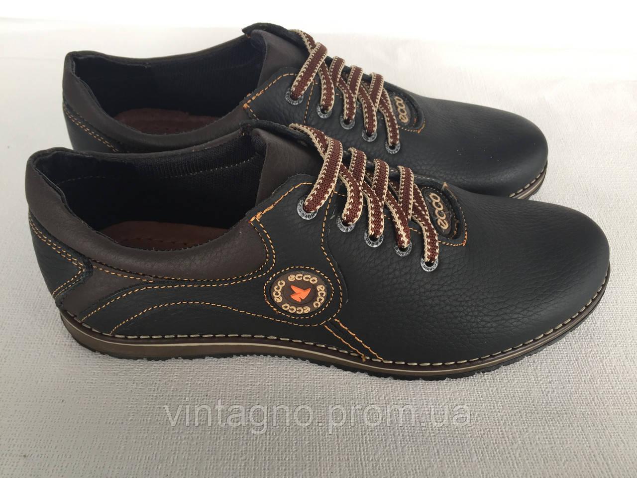 Мужские кожаные туфли комфорт М 01 d80cb6825e7b9